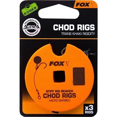 Fox Edges A.Point St.Rig Beaked Chod Rig X 3 25Lb Std