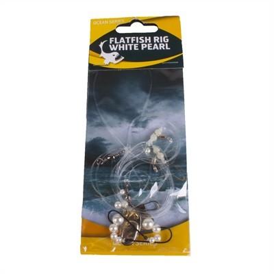 Flatfish White Pearl Rig 2-Hooks